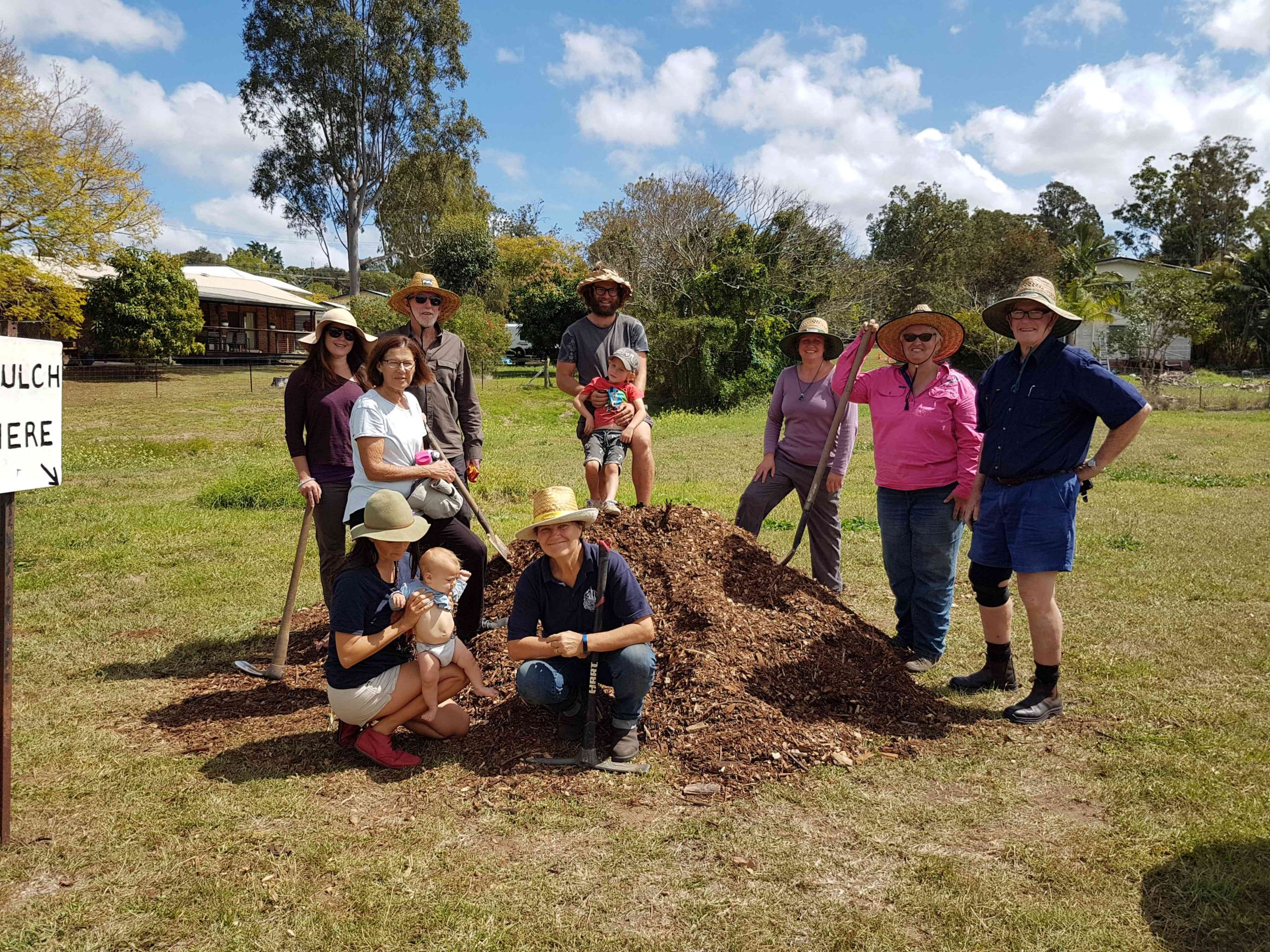 The native food forest guild planting workshop
